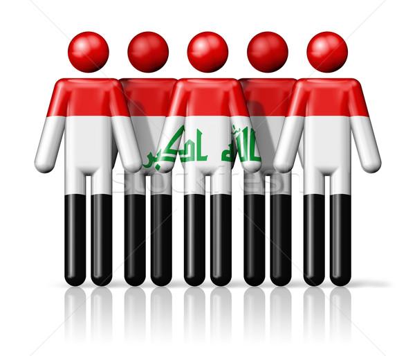 Vlag Irak sociale gemeenschap symbool Stockfoto © daboost