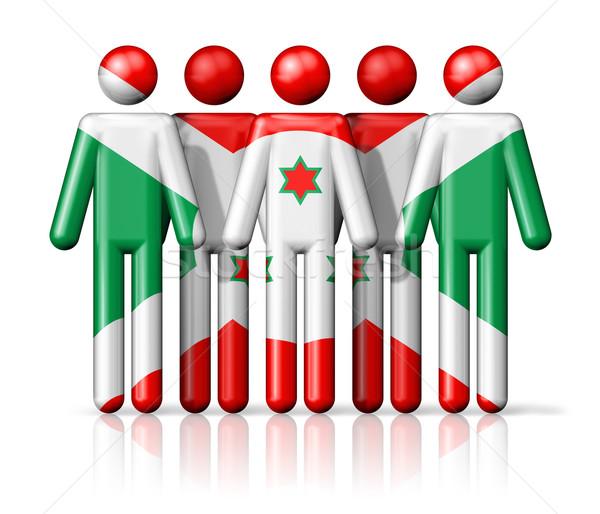 Foto stock: Bandeira · Burundi · social · comunidade · símbolo