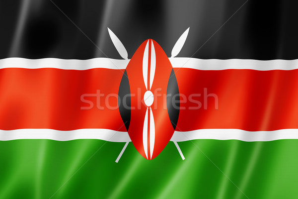 Kenyan flag Stock photo © daboost