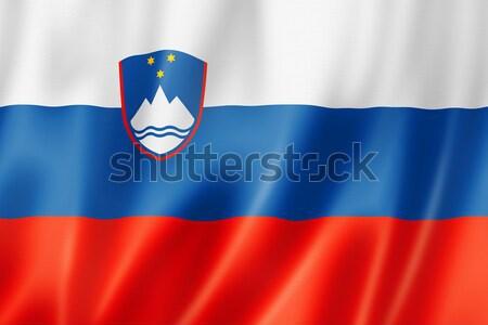 Slovenian flag Stock photo © daboost