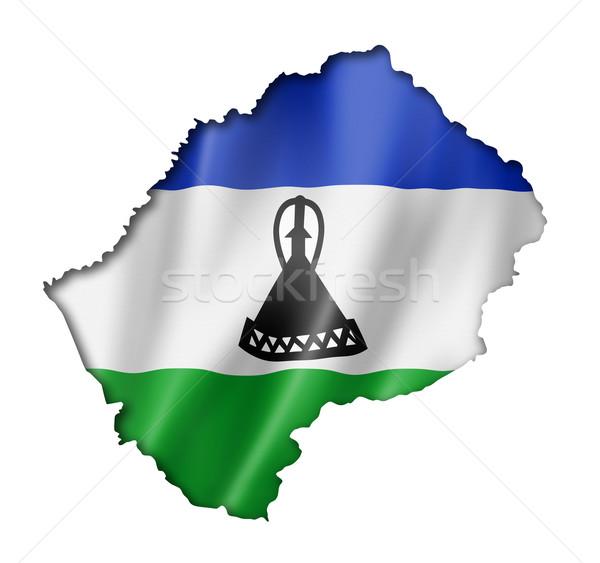 Лесото флаг карта оказывать изолированный Сток-фото © daboost