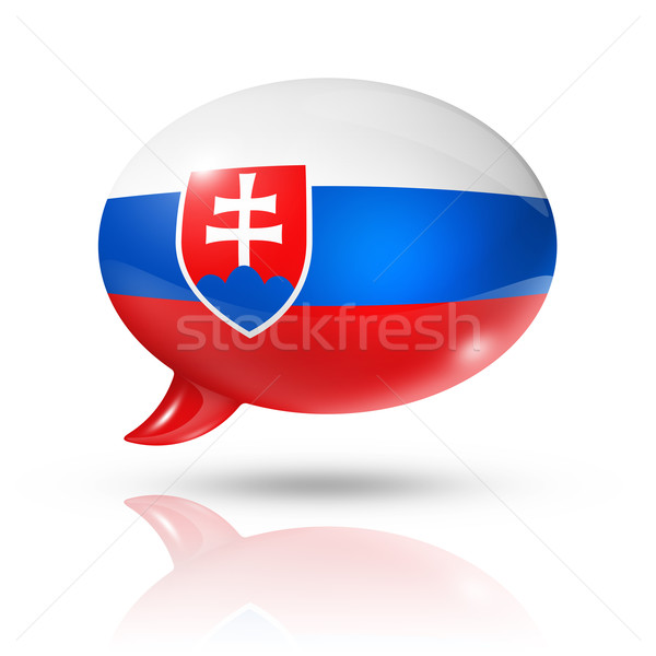 Slovakian flag speech bubble Stock photo © daboost