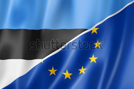 Estonia and Europe flag Stock photo © daboost