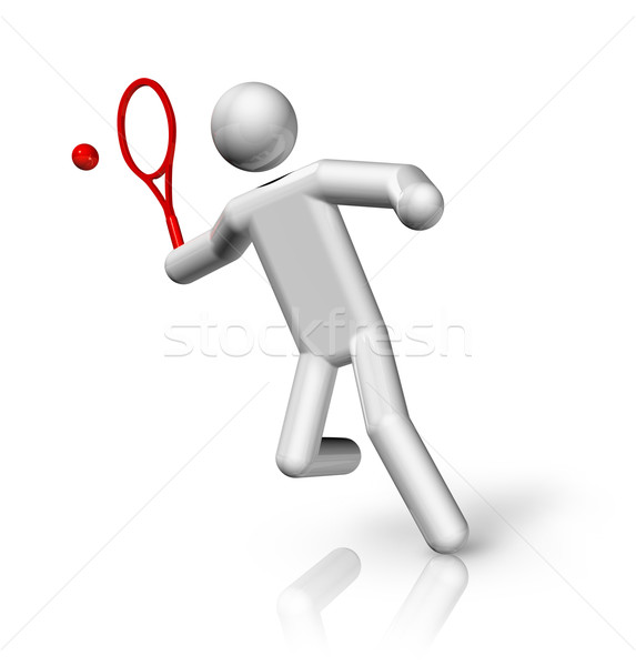 Tennis 3D symbol Stock photo © daboost