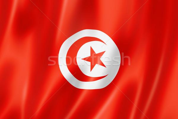 Tunisian flag Stock photo © daboost