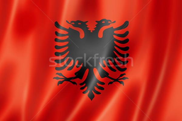 Albanian flag Stock photo © daboost