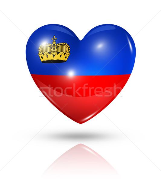 Amore Liechtenstein cuore bandiera icona simbolo Foto d'archivio © daboost