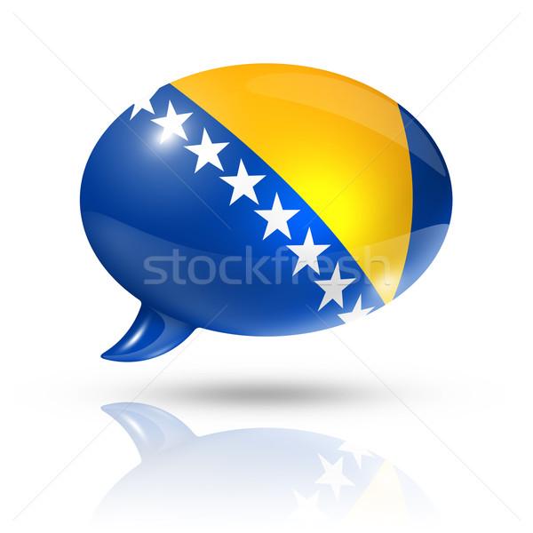 Bosnia and Herzegovina flag speech bubble Stock photo © daboost