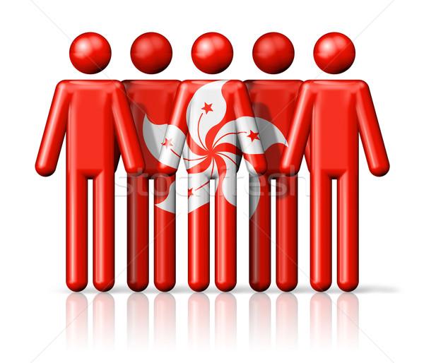 Bandera Hong Kong social comunidad símbolo Foto stock © daboost