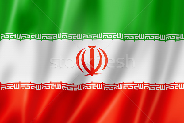 Iranian flag Stock photo © daboost