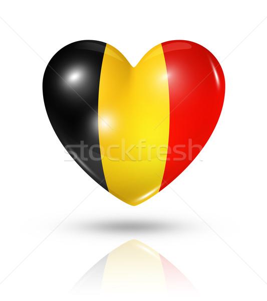 Liefde België hart vlag icon symbool Stockfoto © daboost