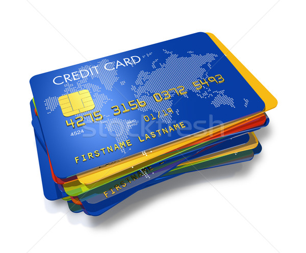 stack of multi colored credit cards Stock photo © daboost