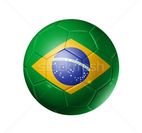 Soccer football ball with brazil flag Stock photo © daboost