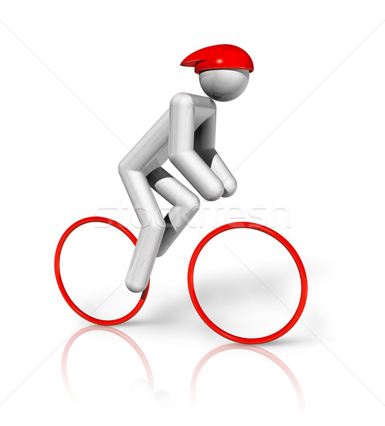 Cycling Road 3D symbol Stock photo © daboost
