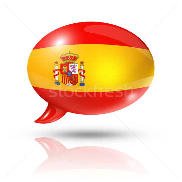 Spanish flag speech bubble Stock photo © daboost