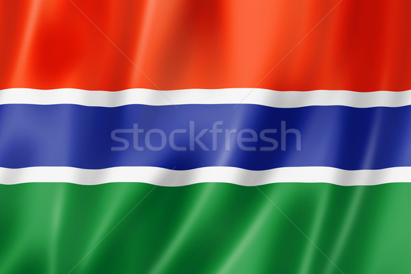Gambian flag Stock photo © daboost