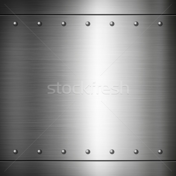 Steel riveted brushed plate texture Stock photo © daboost