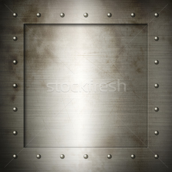 Old brushed Steel frame Stock photo © daboost