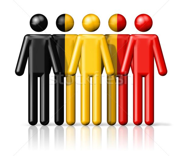 Bandeira Bélgica social comunidade símbolo Foto stock © daboost