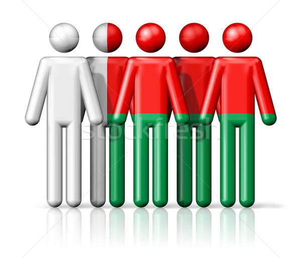 Vlag Madagascar sociale gemeenschap symbool Stockfoto © daboost
