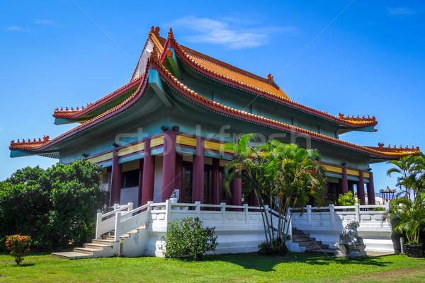 Stock fotó: Kínai · templom · Tahiti · sziget · francia · Polinézia