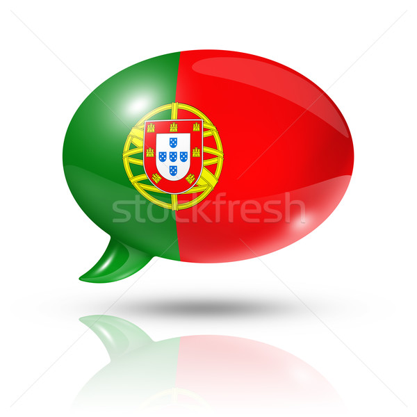 Portuguese flag speech bubble Stock photo © daboost