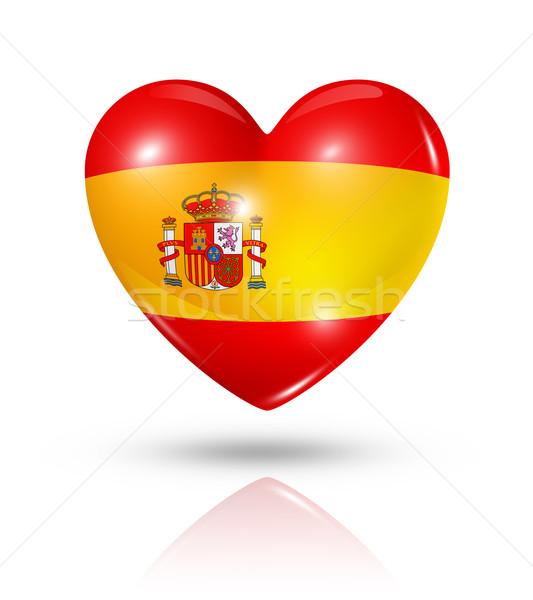 愛 スペイン 中心 フラグ アイコン シンボル ストックフォト © daboost