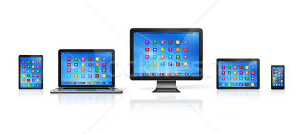 Computer Devices Set Stock photo © daboost