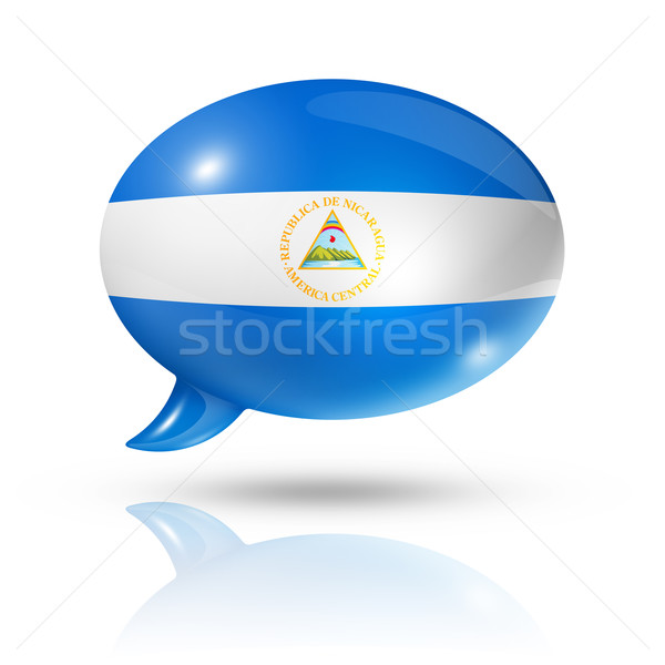 Nicaragua flag speech bubble Stock photo © daboost
