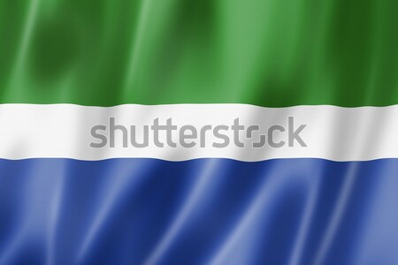 Sierra Leone flag Stock photo © daboost