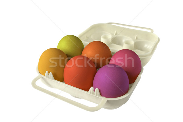 Oeufs colorés Pâques six Photo stock © daboost