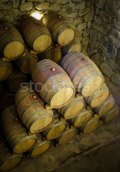 Bois vin Winery vintage grotte Photo stock © daboost