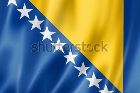 Bosnia and Herzegovinan flag Stock photo © daboost