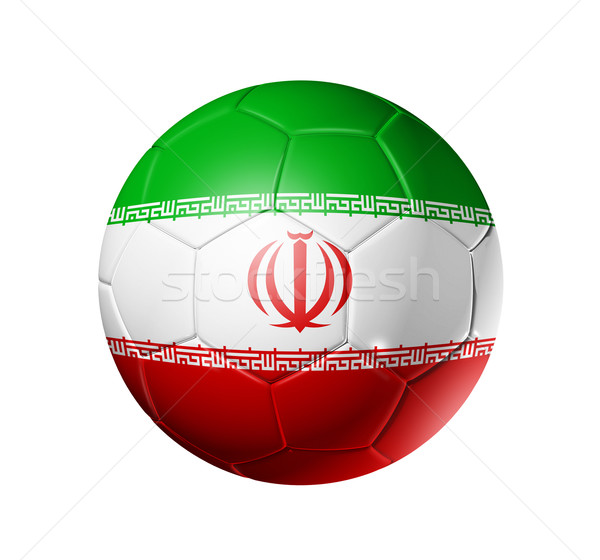 Soccer football ball with Iran flag Stock photo © daboost