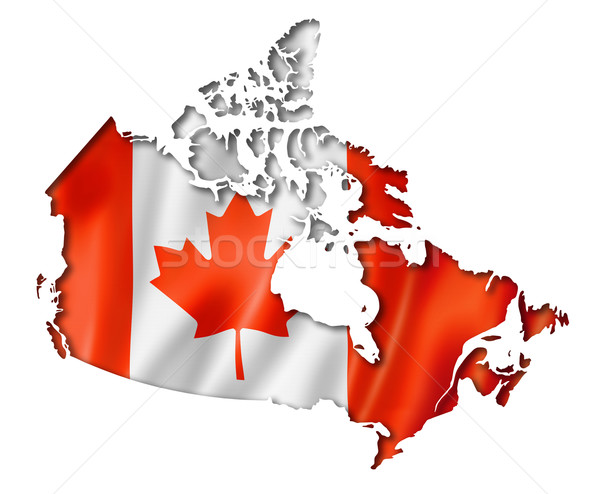 Canadian flag map Stock photo © daboost
