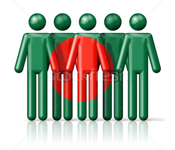 Bandeira Bangladesh social comunidade símbolo Foto stock © daboost