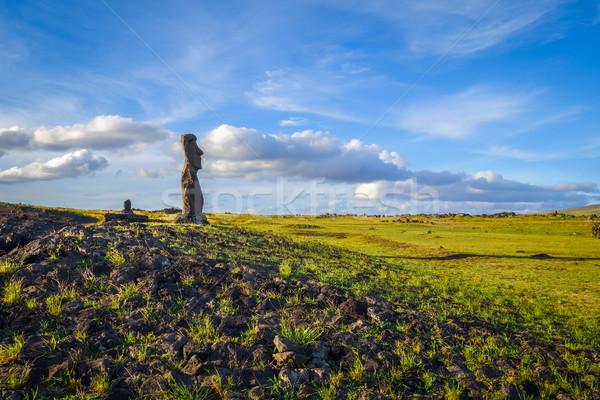 Estátua Ilha de Páscoa Chile arte oceano viajar Foto stock © daboost