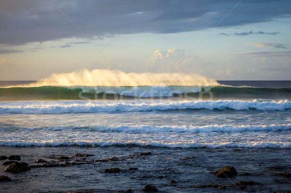 Oceano pôr do sol páscoa ilha água sol Foto stock © daboost
