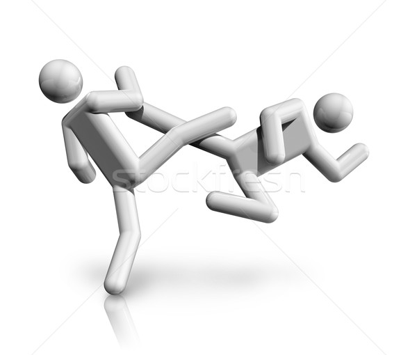 Taekwondo 3D simge üç boyutlu spor dünya Stok fotoğraf © daboost