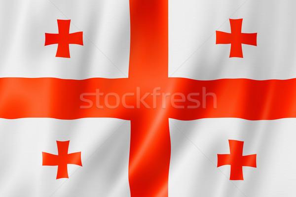Georgian flag Stock photo © daboost