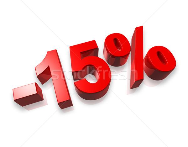 15 quinze por cento 3D número isolado Foto stock © daboost