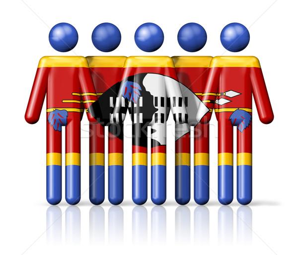 Vlag Swaziland sociale gemeenschap symbool Stockfoto © daboost