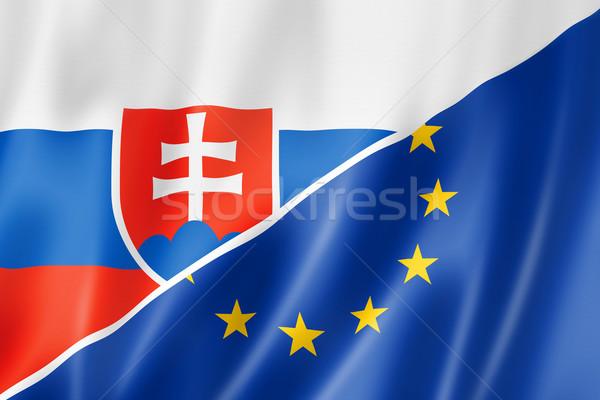 Slovakia and Europe flag Stock photo © daboost