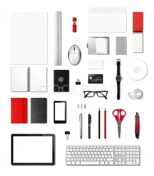 事務用品 テンプレート 白 孤立した ビジネス ストックフォト © daboost