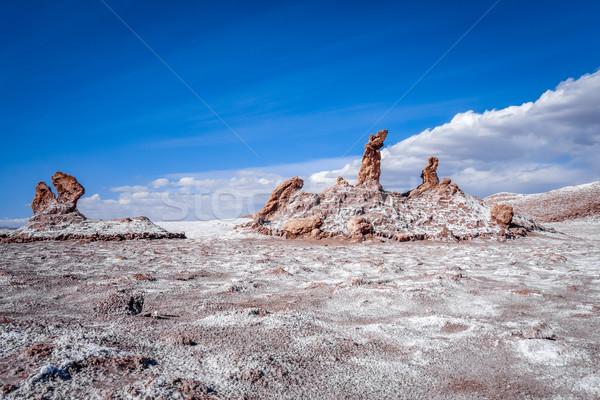 Las tres Marias landmark in Valle de la Luna, San Pedro de Ataca Stock photo © daboost