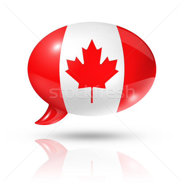 Canadian flag speech bubble Stock photo © daboost