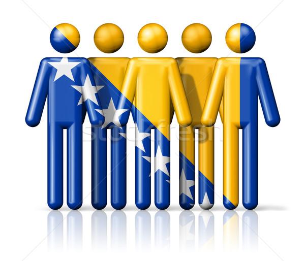 Bandera Bosnia Herzegovina social comunidad símbolo Foto stock © daboost