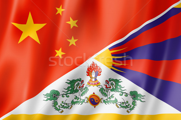 China and Tibet flag Stock photo © daboost