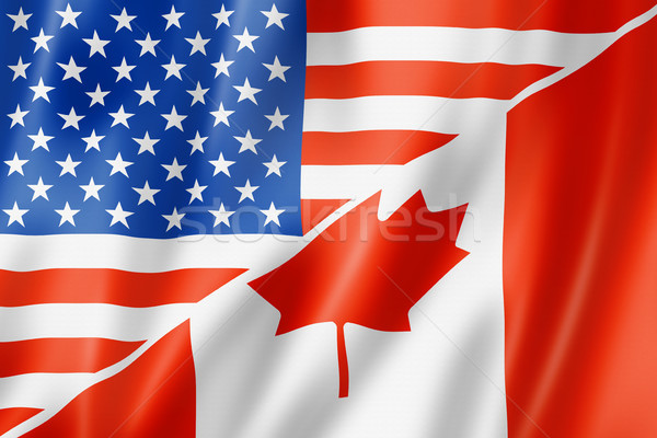 USA and Canada flag Stock photo © daboost