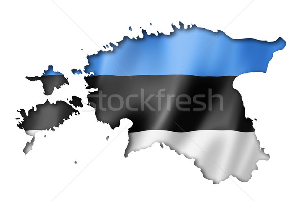 Estonian flag map Stock photo © daboost